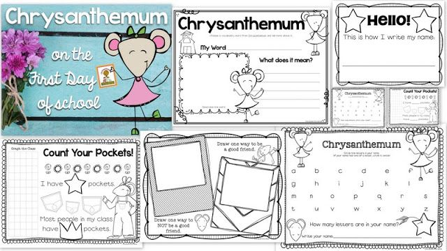 Ideas for Using Chrysanthemum on the First Day of School {FREEBIE} - First Grade Blue Skies