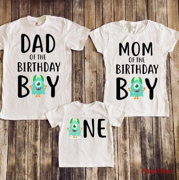 Monster Geburtstag Shirt Monster Geburtstagsparty 1 Geburtstag