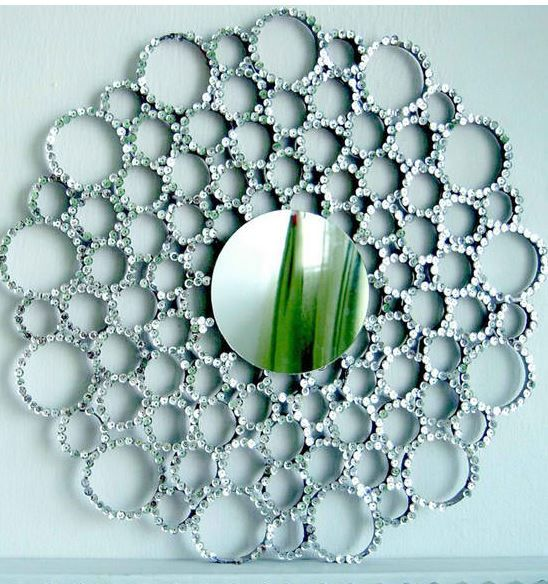 Sequin TB Roll Sunburst Mirror | 17 Amazingly Cheap Home Decor | DIY Crafts
