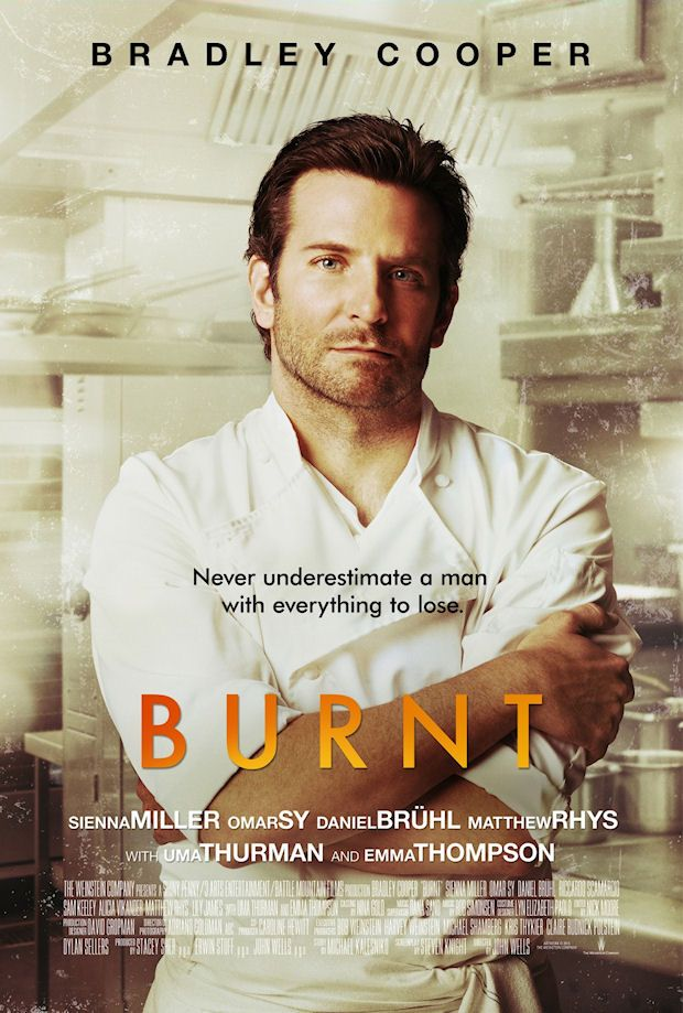 BURNT movie poster w/ Bradley Cooper