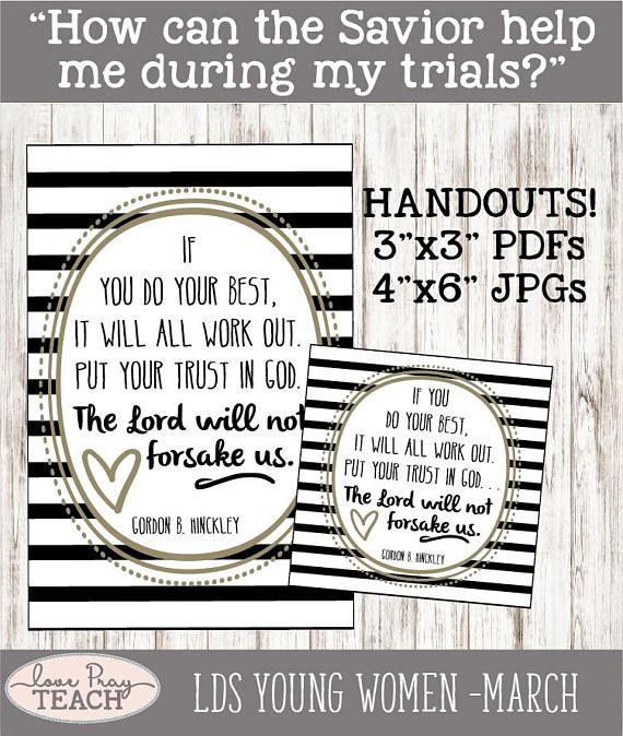1004 best LDS Young Women Lesson Helps images on Pinterest ...