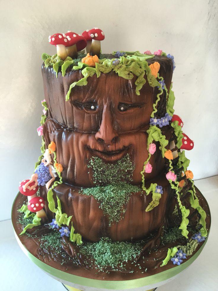 enchanted tree cake