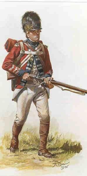 AWI British: British 16th Dragoon Regiment dismounted, by Don Troiani. (www.dontroiani.com)