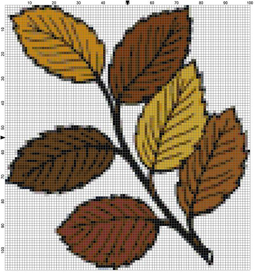 Download These 4 Free Autumn Leaf Needlepoint Patterns