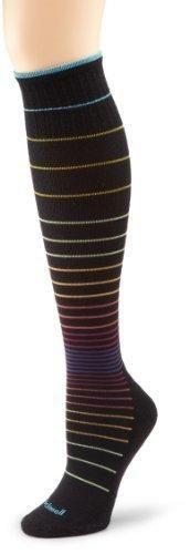 Sockwell Women's Circulator Compression Socks Small/Medium Black Stripe