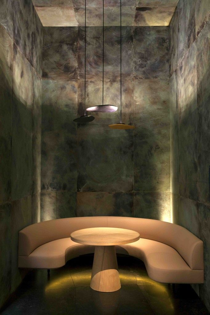 pierre yovanovitch | banquette seating | wall finish | texture | restaurant design