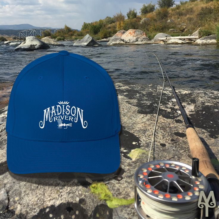 A Madison River ball cap seen on the river near the Three Dollars Bridge Fishing Access Site, in southwest Montana.  The FlexFit's curved bill, athletic shape, and silver undervisor make it an ideal multi-purpose hat. I don't go out on the river without my Flexfit hat.