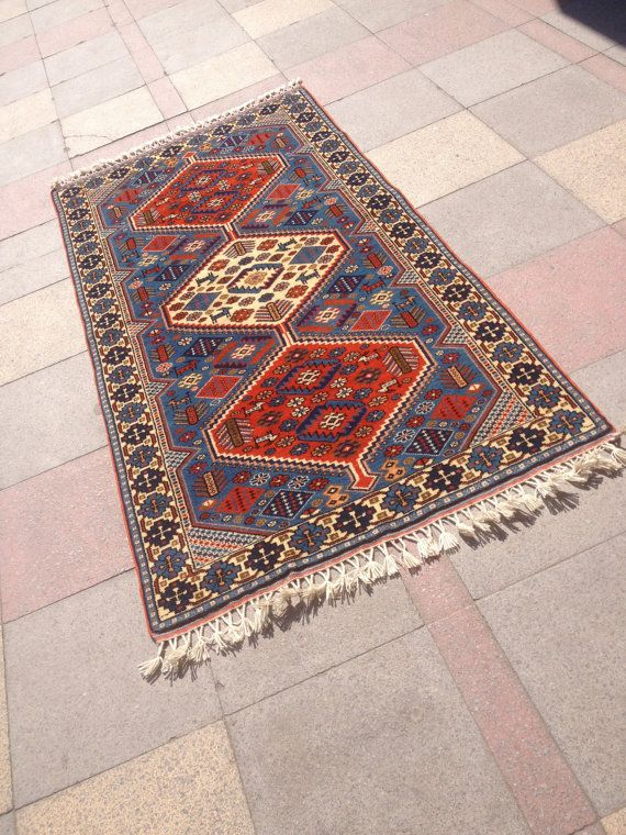"Antique Caucasian kazak rug Shirwan Carpet Rug Anatolian Carpet Rug 40,5""x78,7"""