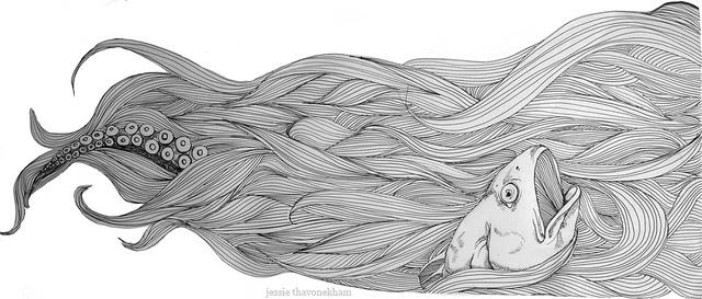 Sea of Locks by Jessie ThavonekhamIllustrations Design, Jessie Thavonekham