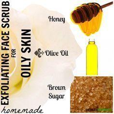 DIY Homemade Face Scrub Recipes for Oily Skin – #D…
