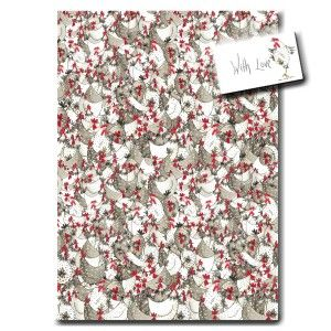 Hotch Potch Chicken Wrapping Paper by Sarah Boddy