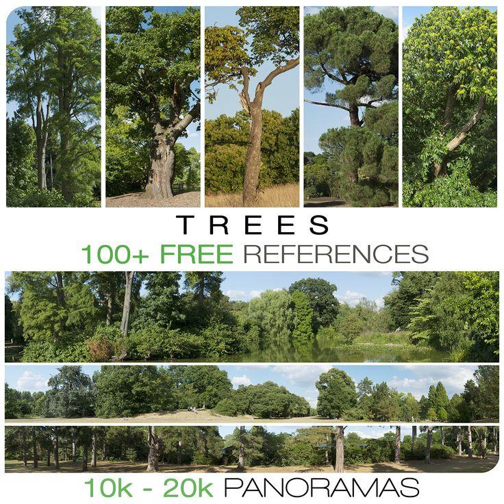 Free trees references, Jacek Pilarski on ArtStation at https://www.artstation.com/artwork/3Z4gA