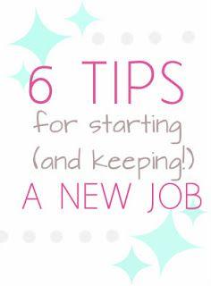 Girls for God: 6 Tips for Starting a New Job