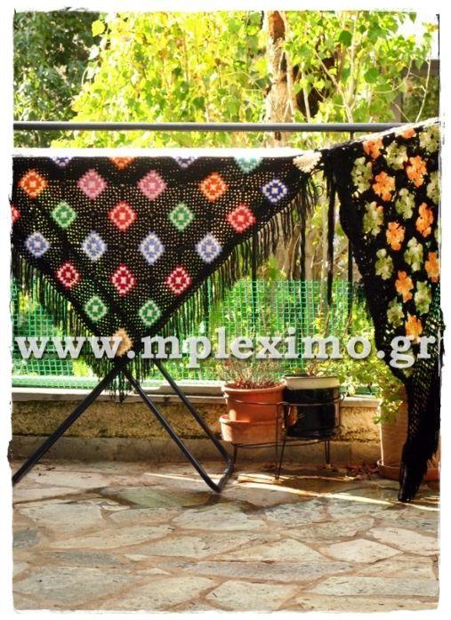 crochet vintage shawls