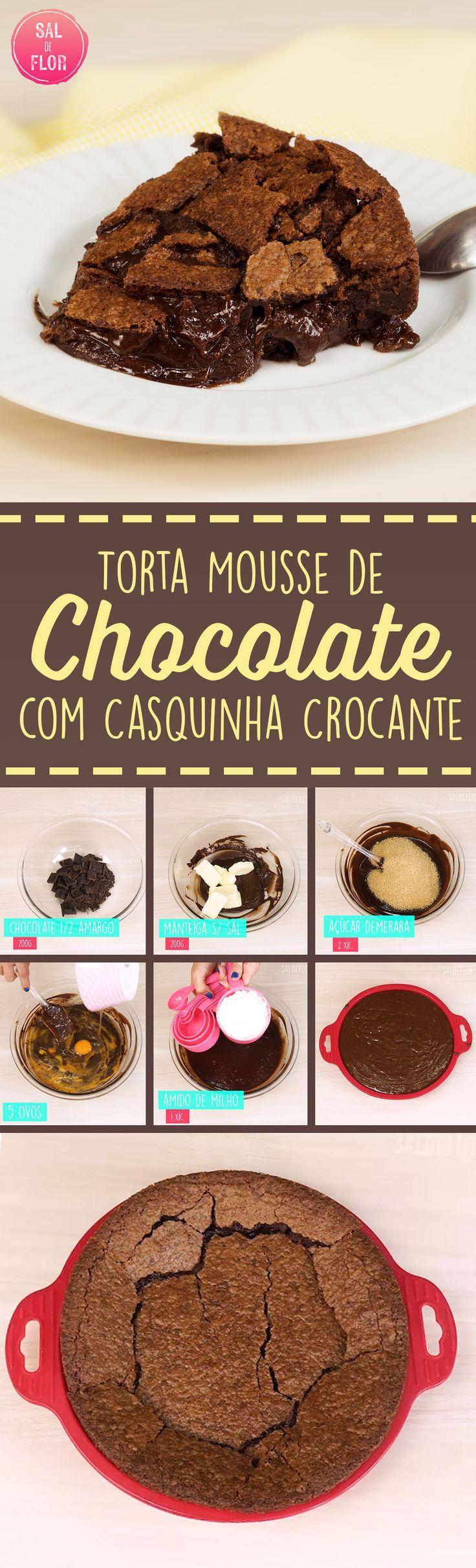 Torta mousse de chocolate crocante #opaDhay