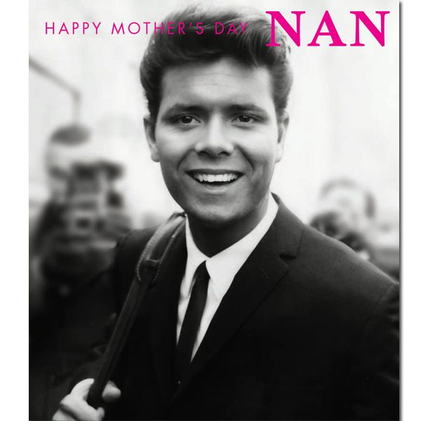 Official Cliff Richard Nan Mother's Day Card now available with Free 1st Class UK Postage from Publishers Danilo.com at http://bit.ly/MotherDayCardsWrap