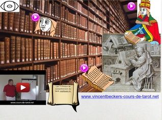 La carte de la Papesse du tarot, par Vincent Beckers. Cours de tarot gratuit en ligne www.vincentbeckers-tarot.net