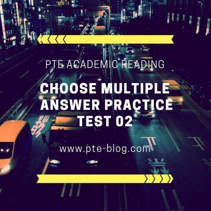 PTE Academic Reading: MCQ – Choose Multiple  Answer Practice Test 02