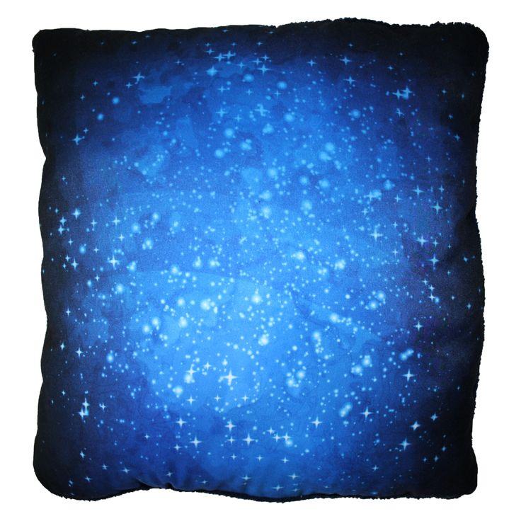 Kék galaxys párna
