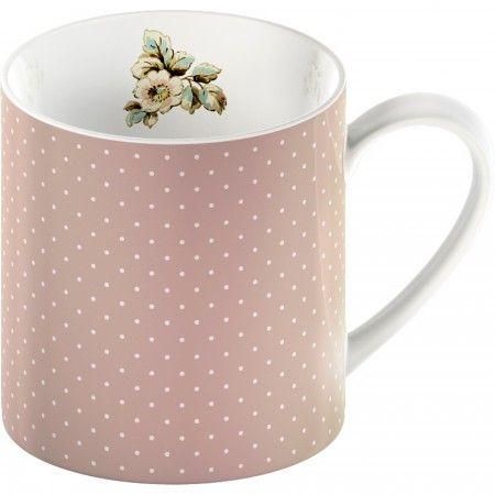 Pink spot mug