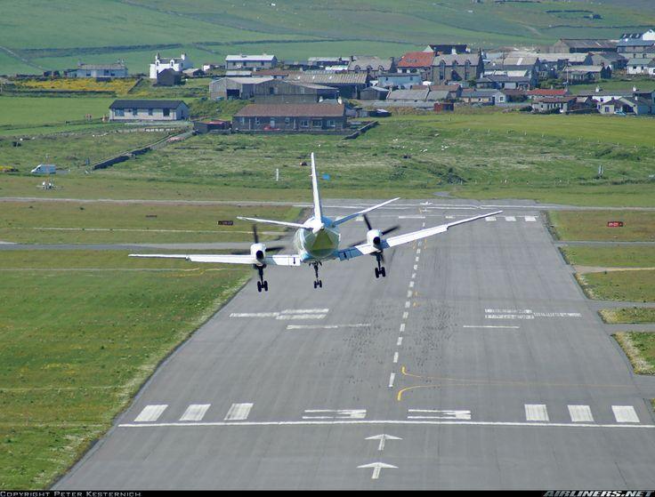 Flybe - British European (Loganair) Saab 340B  G-LGNE (cn 340B-172) A little bit of KaiTak feeling :-)