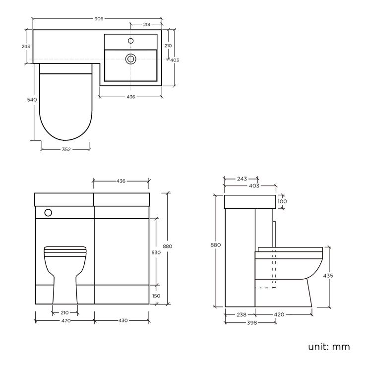 Light Walnut Combined Vanity Unit Toilet And Basin