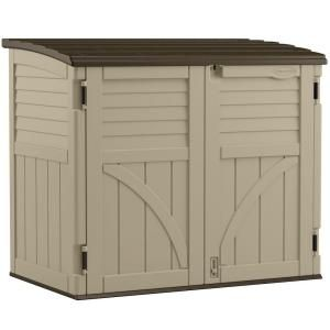 Suncast, 2 ft. 8 in. x 4 ft 5 in. x 3 ft. 9.5 in. Resin Horizontal Storage Shed, BMS3400 at The Home Depot - Mobile
