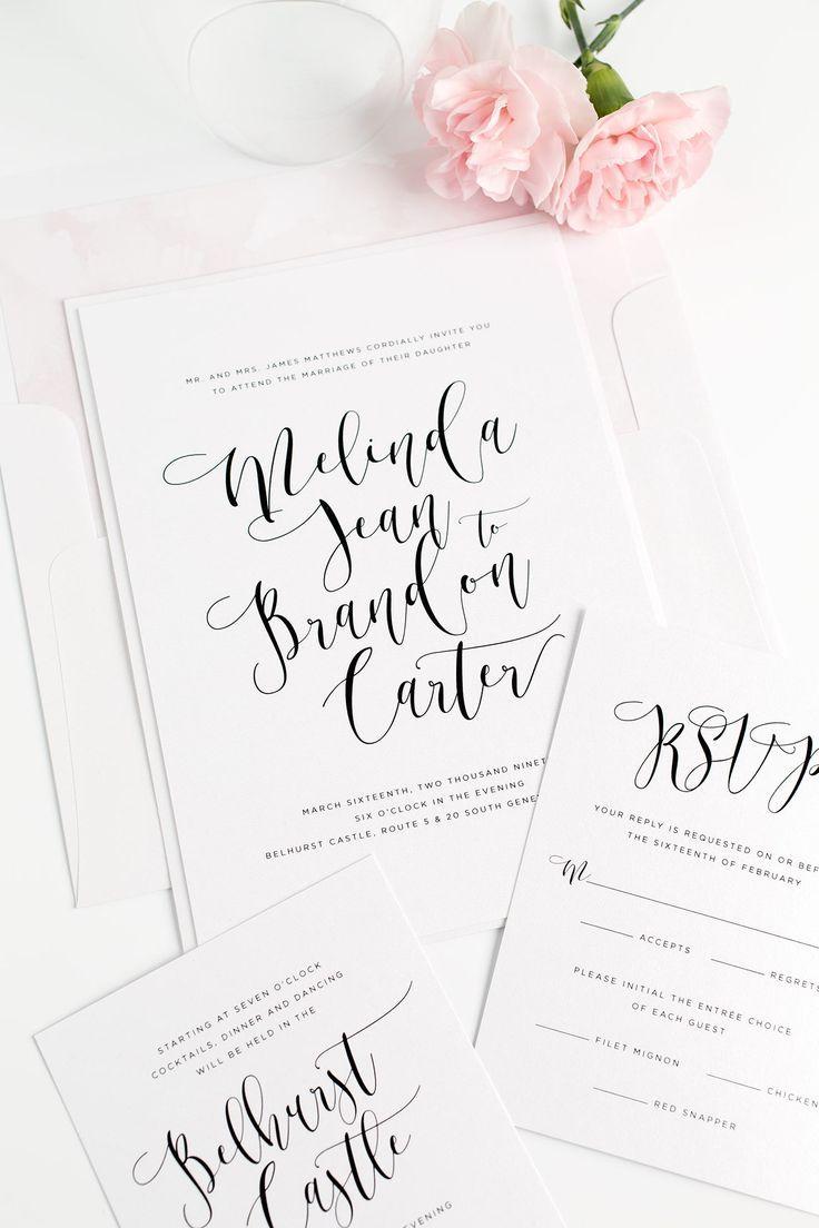 36 best handwritten wedding invitations images on pinterest