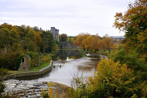 Kilkenny Castle and the River Nore from Wind Gap