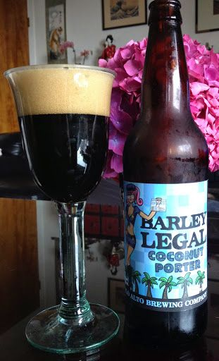 Barley Legal Coconut Porter, Palo Alto Brewing Firehouse Grill & Brewery, Sunnyvale, California - bought in San Francisco/ San Mateo Counties