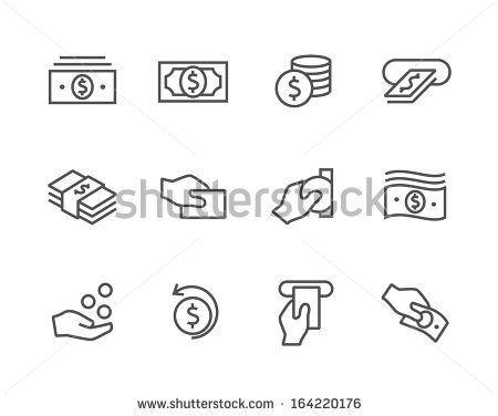 Simple icon set related to Money.  - stock vector