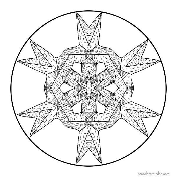 Ausmalbilder Mandalas zum Ausdrucken und Ausmalen   frobel ...