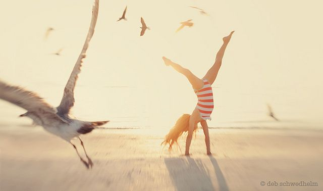 Deb Schwedhelm. Serendipitous bird, whimsy, movement and good light...a favorite.