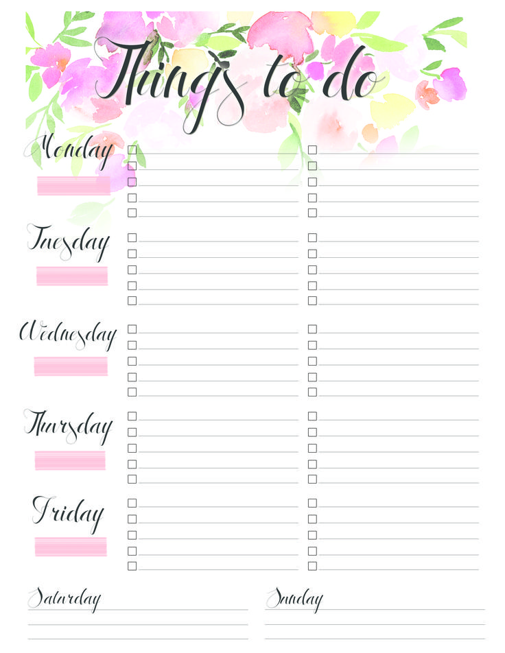 My new to-do list for the work. I like to create a new one at the beginning of each year to keep my projects and deadlines looking fresh, fun, and organized! <3