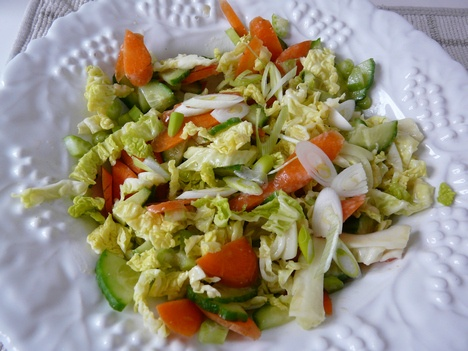 Asian slaw, Green foods and Winter on Pinterest