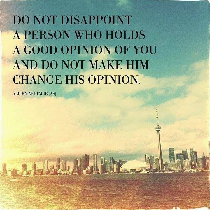 Do not disappoint