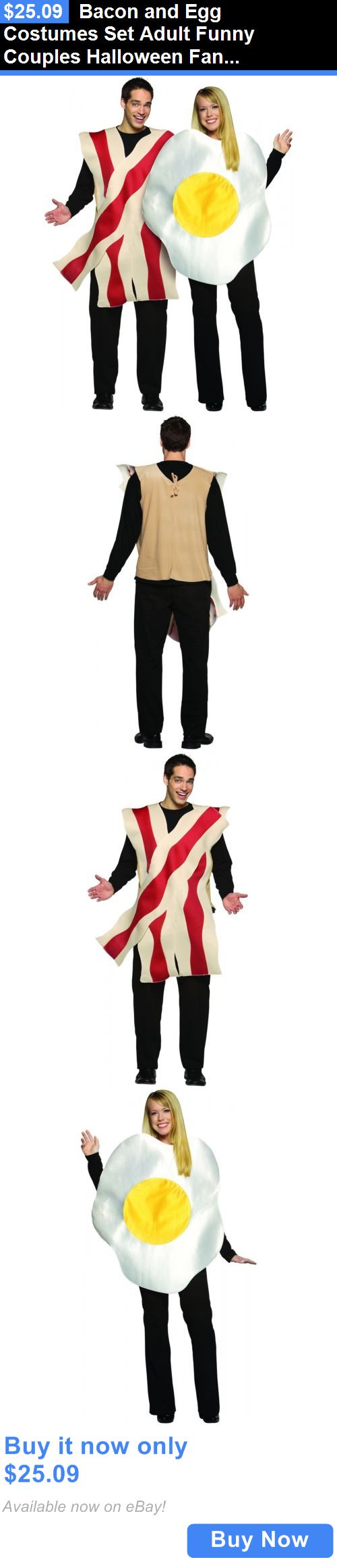 Halloween Costumes Couples: Bacon And Egg Costumes Set Adult Funny Couples Halloween Fancy Dress BUY IT NOW ONLY: $25.09