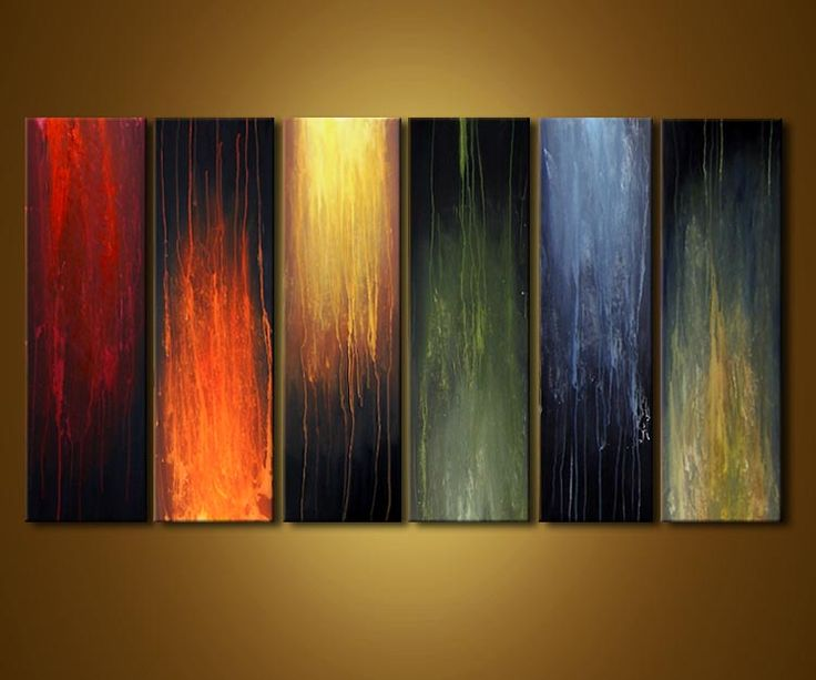 Original abstract art paintings by Osnat - home decor painting
