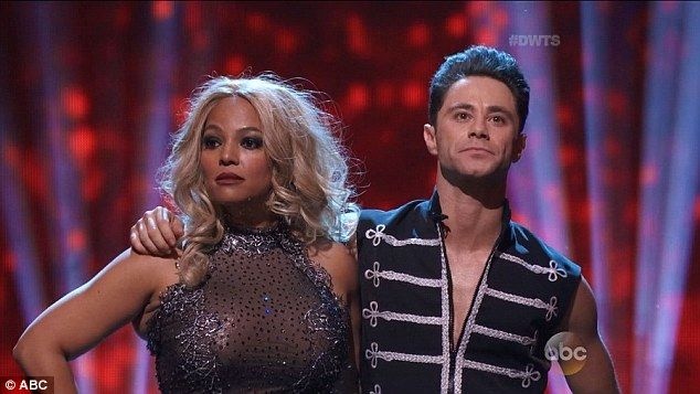 Last dance: Kim Fields and partner Sasha Farber were eliminated from the show