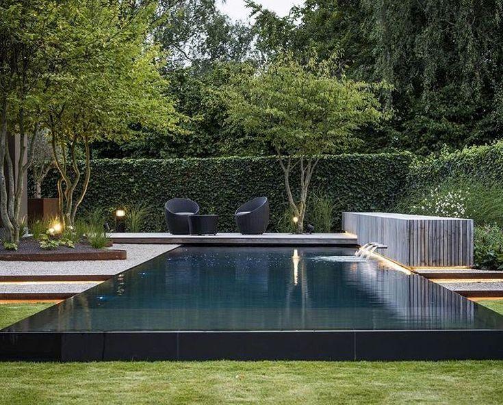 Landscape Design Reflecting Pool Pool Landscaping Modern House Design Garden Design