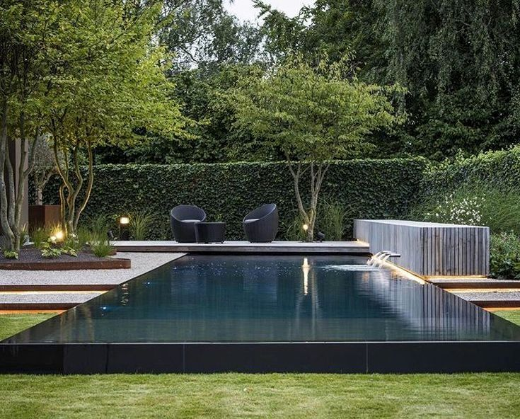 Landscape Design Reflecting Pool Pool Landscaping Backyard
