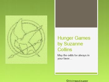 The Hunger Games Book Preview PowerPoint. A short and simple PowerPoint introduction to the book The Hunger Games by Suzanne Collins. 9 slides. Includes a plot summary (that is not a spoiler!), background on the setting and characters, and information on the author and her website. - HappyEdugator2014HappyEdugator.