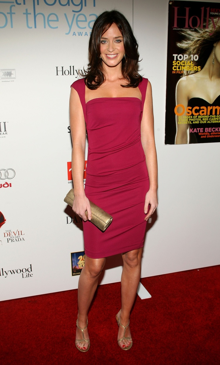 Emily Blunt in Nicole Miller   available at... Nicole Miller Atlanta 404.261.0202 www.nicolemilleratlanta.com
