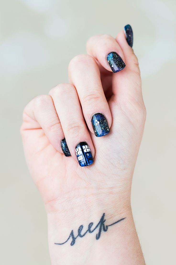 Doctor Who and the galaxy (nails!) | Twine & Twig