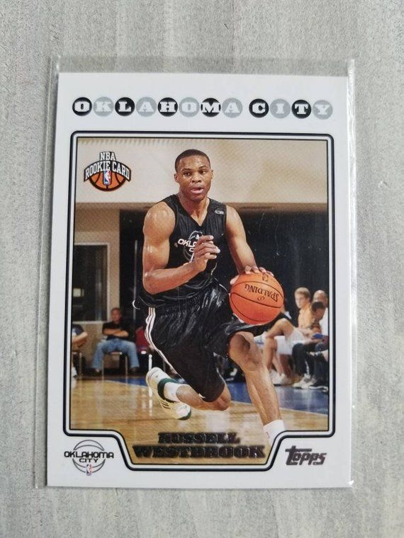 Birthday Gifts for Men Gifts for Boyfriend Gift Dad OKC Thunder Oklahoma City Thunder Gift Russell Westbrook Topps Chrome Rookie Card
