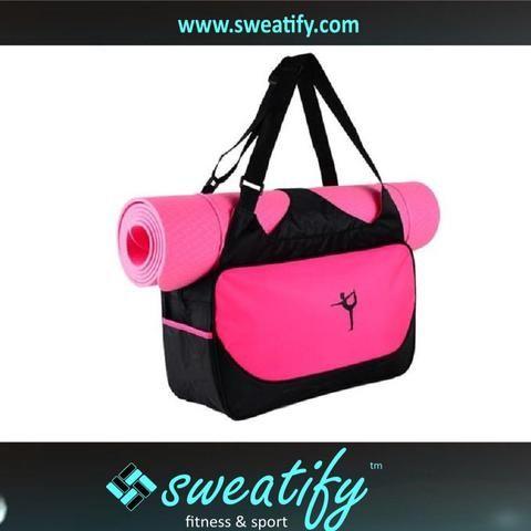 Sweatify Stylish, Efficient & Lightweight Yoga Mat Bag Case / Durable Eco-Friendly & Waterproof