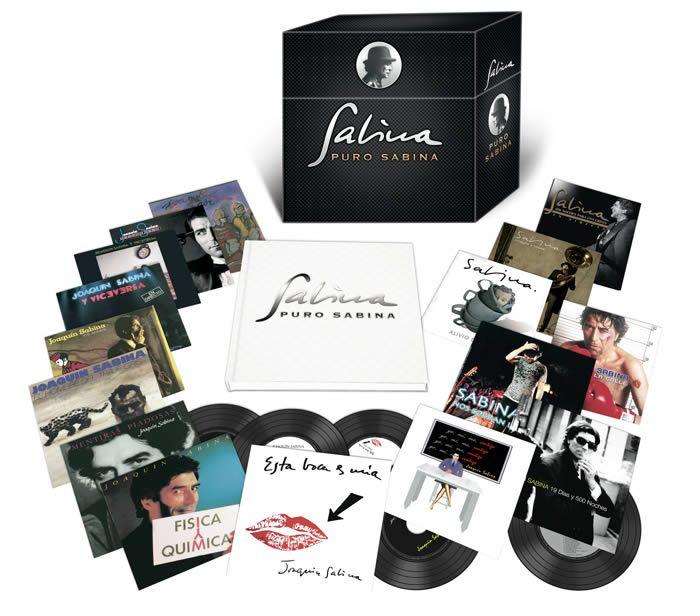 Puro Sabina es el nuevo cofre recopilatorio con toda la discografía de Joaquín Sabina en solitario (y con Viceversa) desde 1980.