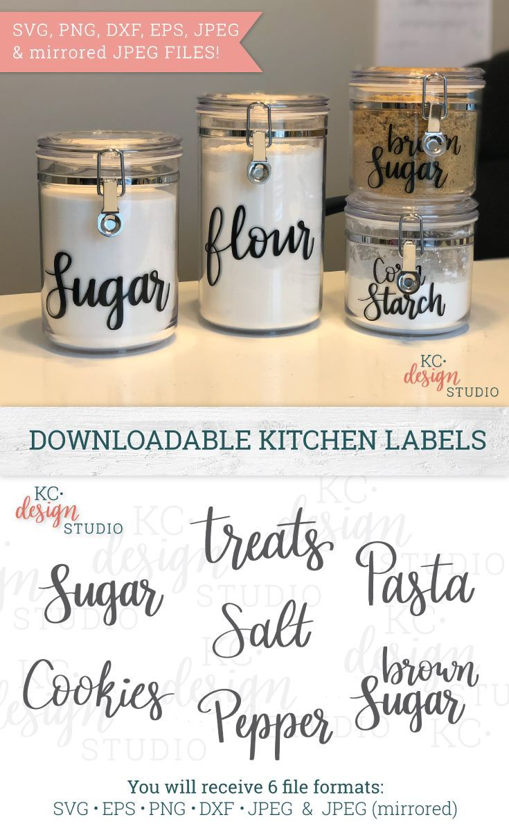 Dunn Farmhouse decor Farmhouse canisters Canister labels kitchen decal Pantry labels Labels for canisters Kitchen labels