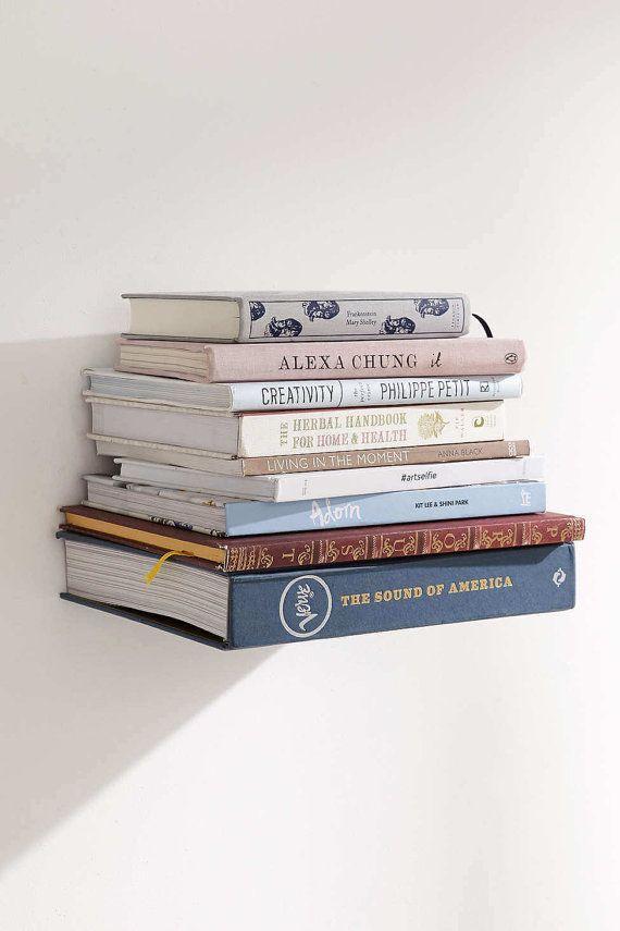 Floating Bookshelf Invisible Bookshelf Modern by VintageThemes