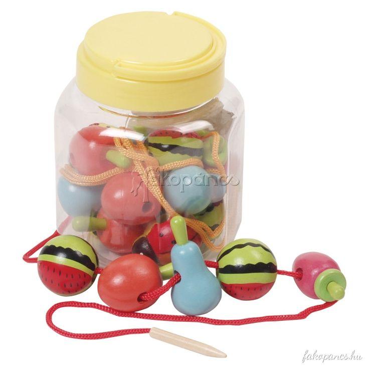 Készségfejlesztő játékok :: Fűzős játékok :: Fűzőcske (gyümölcsös) - Fajáték és Játékbolt - Online Játékbolt - Játék Webáruház!